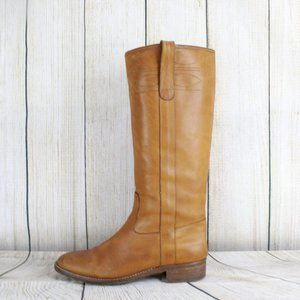 J. Crew Low Heels Leather Mid Calf Riding Boots